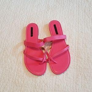 New Talbots Pink Sandals, sz 10